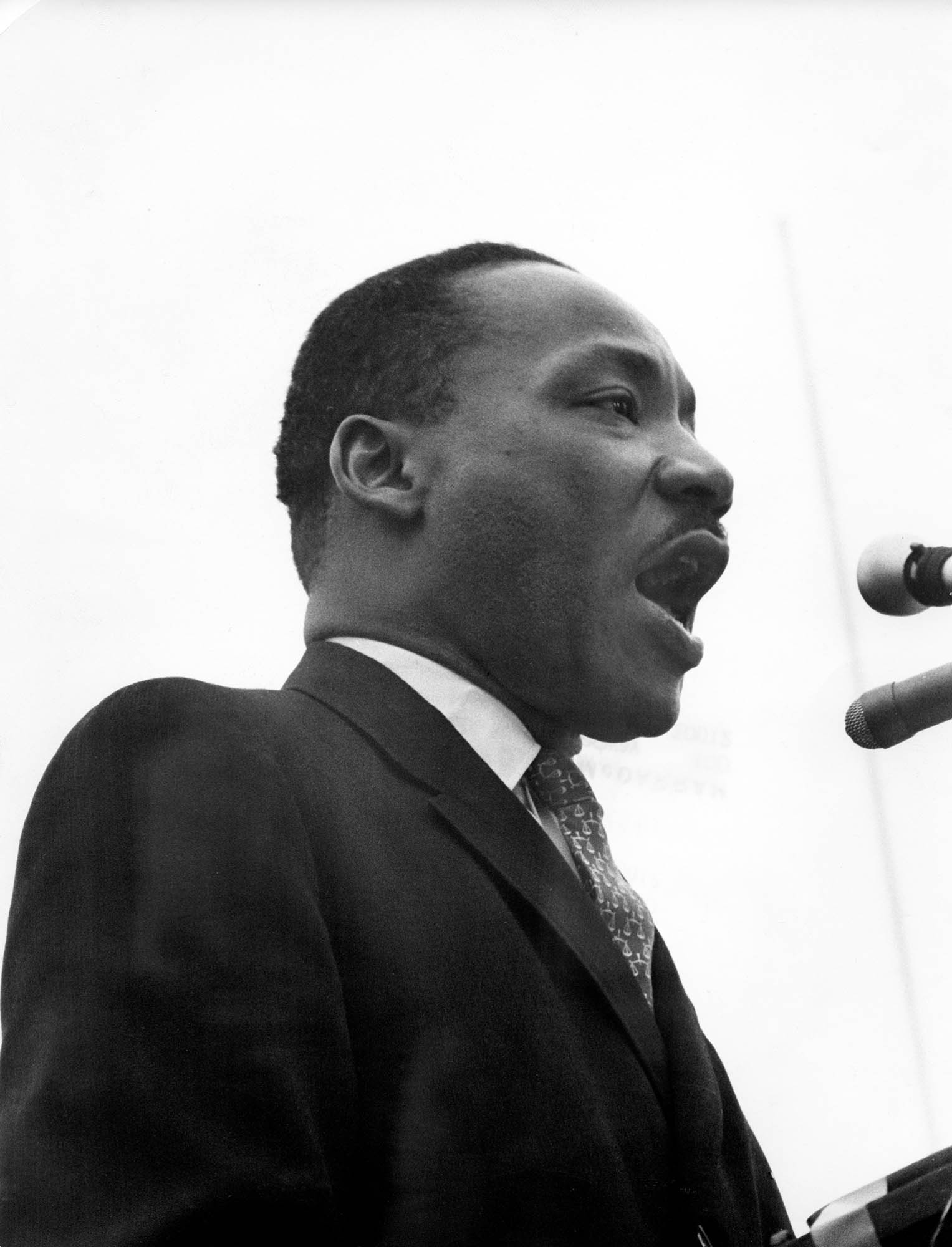 Dr. King Speaks at Anti-War Rally at the United Nations Plaza, NYC, April 15, 1967.