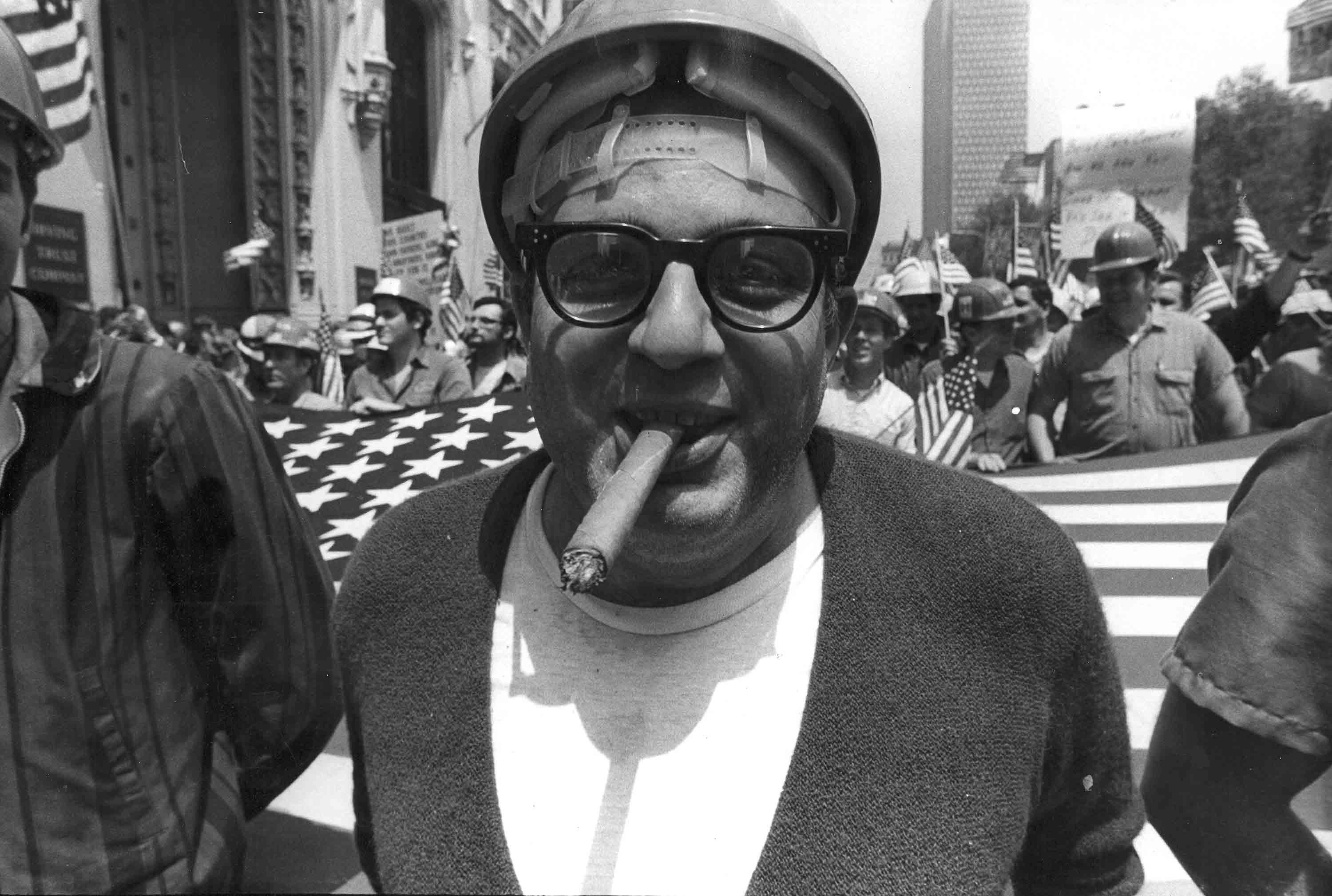 """""""Hard Hat Rally"""" to Support the War in Vietnam, NYC, May 20, 1970"""