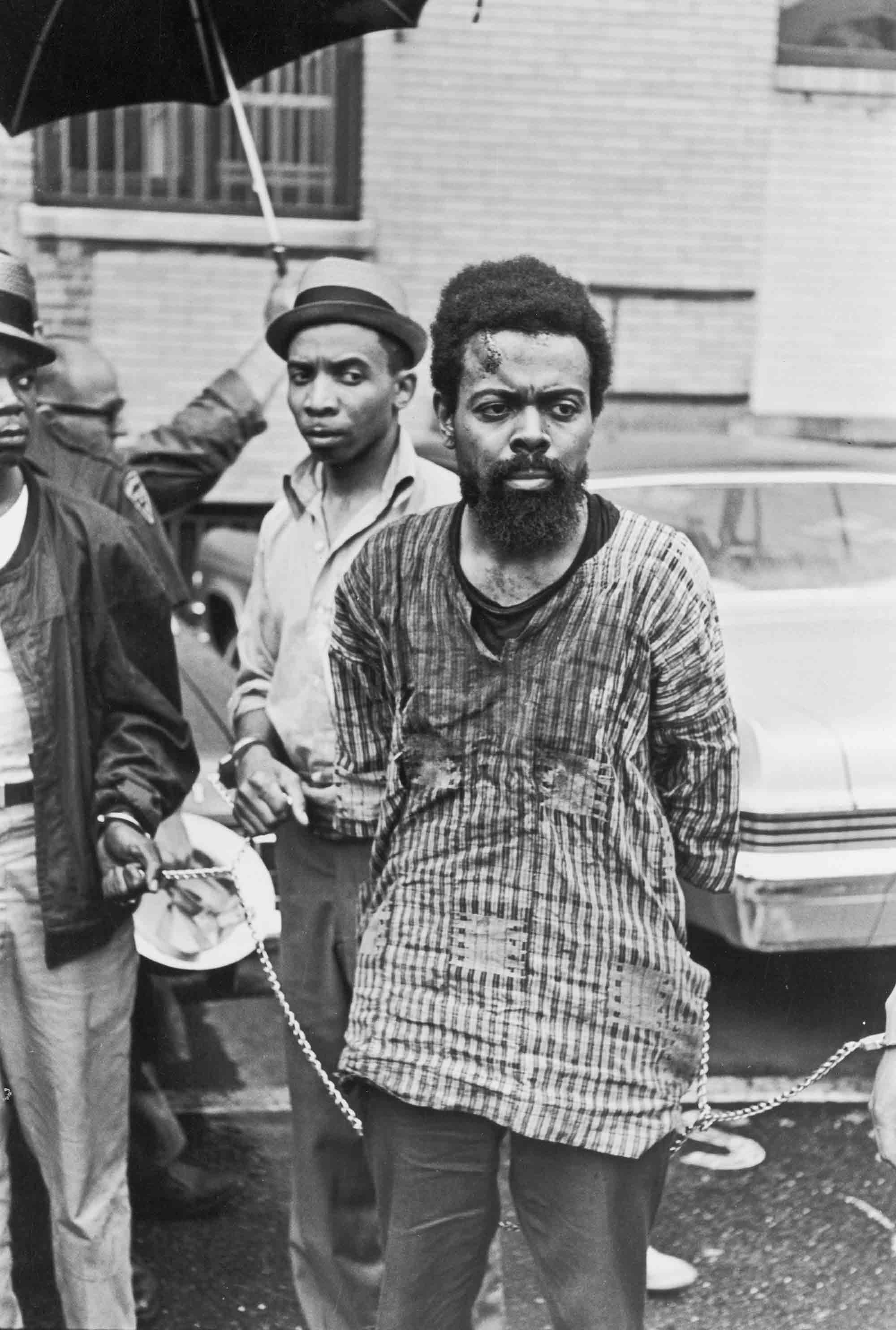 Amiri Baraka (formerly LeRoi Jones) arrested during the Newark Riots in Newark, NJ, July 14, 1967