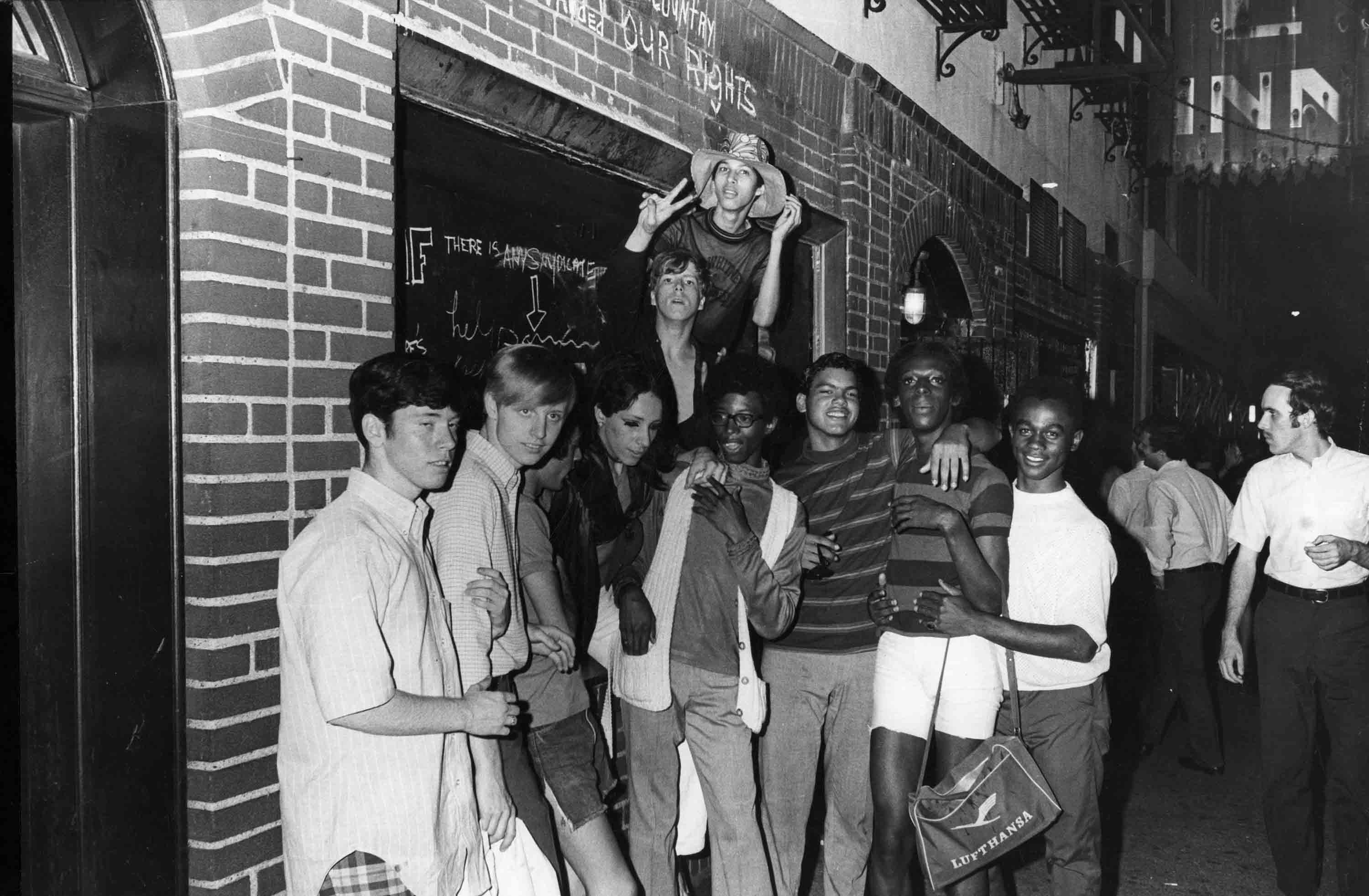 Young People Celebrate Outside Stonewall Inn After the Uprising, NYC, June 27, 1969