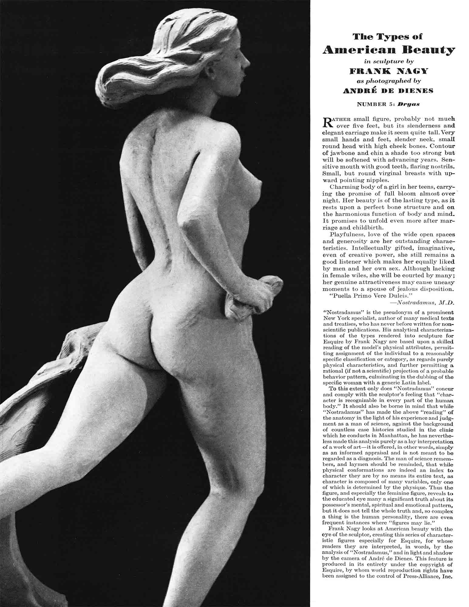 "Figure 5. Andre de Dienes, ""The Types of American Beauty"", Esquire, 1940."