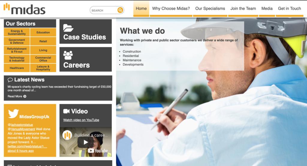 midas homepage