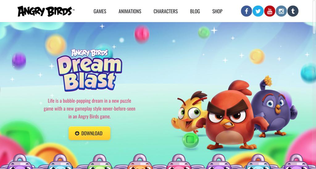 angry birds homepage