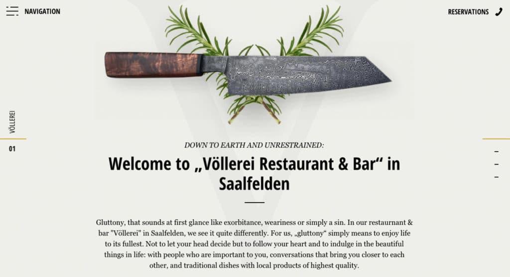 voellerei-1 restaurant website design