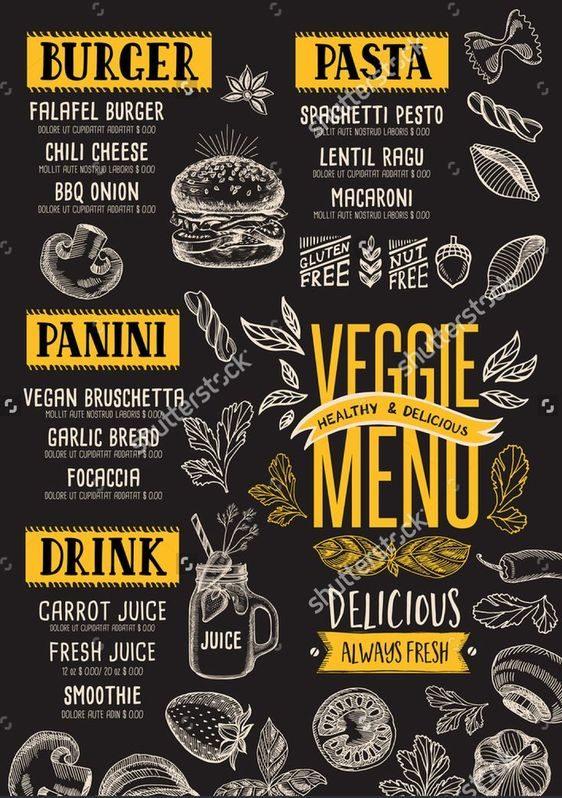 menu design food