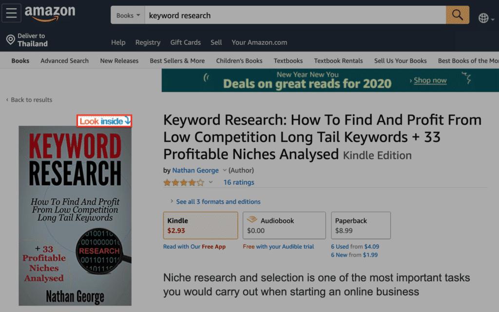 Amazon Look inside