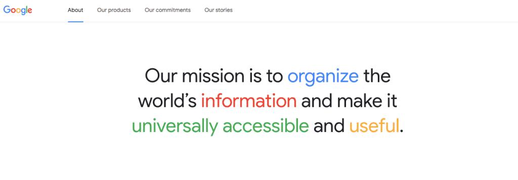 Googles brand message