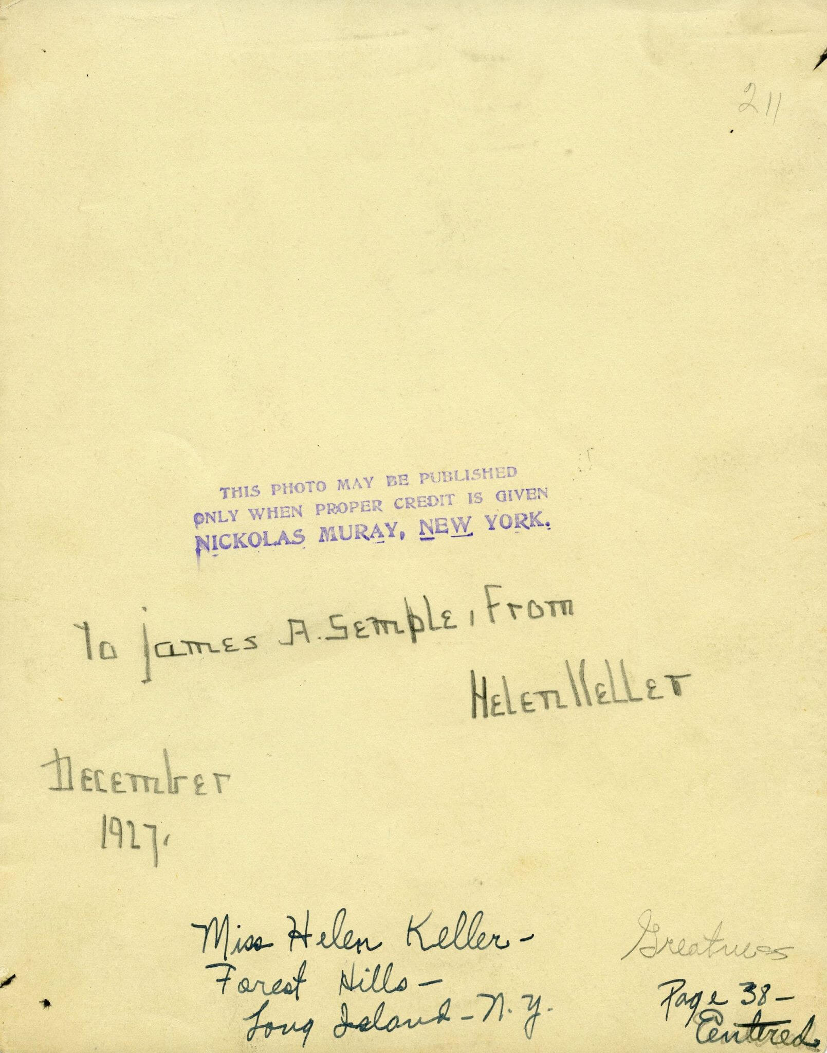 Helen Keller's Signature