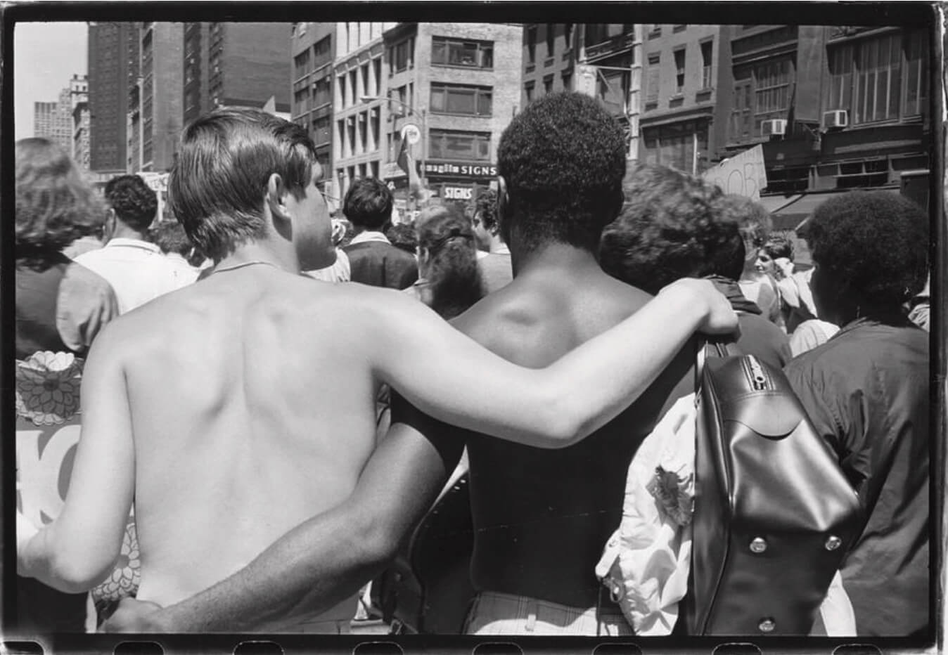 """First NYC Pride March, then known as """"Gay Liberation Day,"""" NYC, June 28, 1970"""