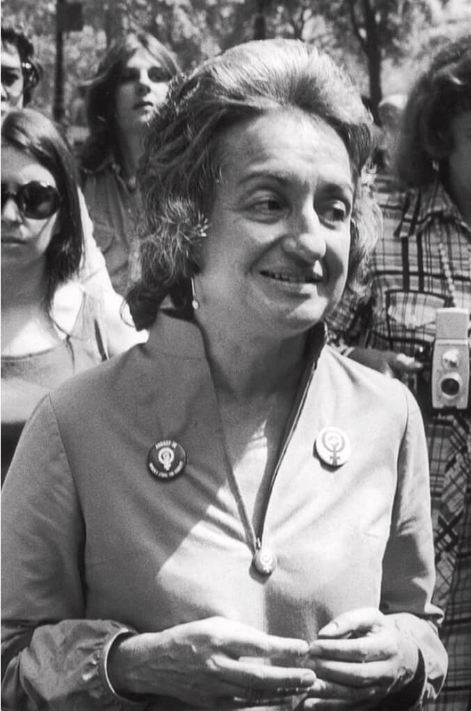 Betty Friedan Attending Celebrations for the 50th Anniversary of Women's Suffrage, NYC, August 26, 1970
