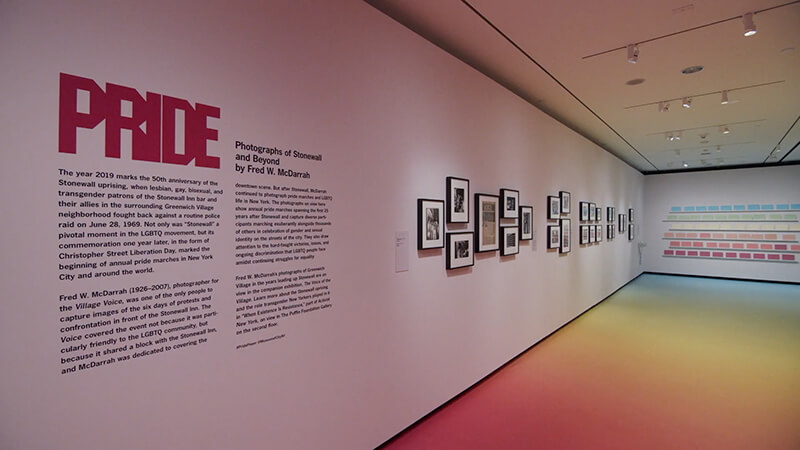 PRIDE : Photographs of Stonewall and Beyond - Installation - Museum of the City of New York