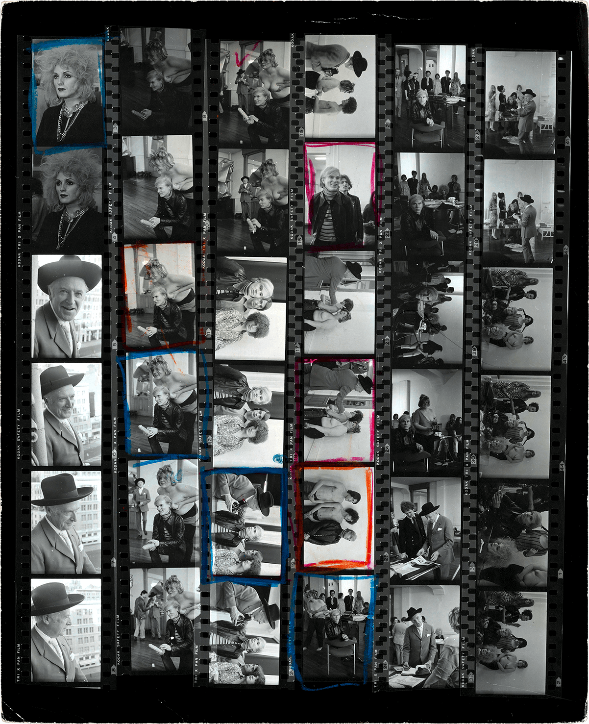 Andy Warhol & Factory - Contact Sheet