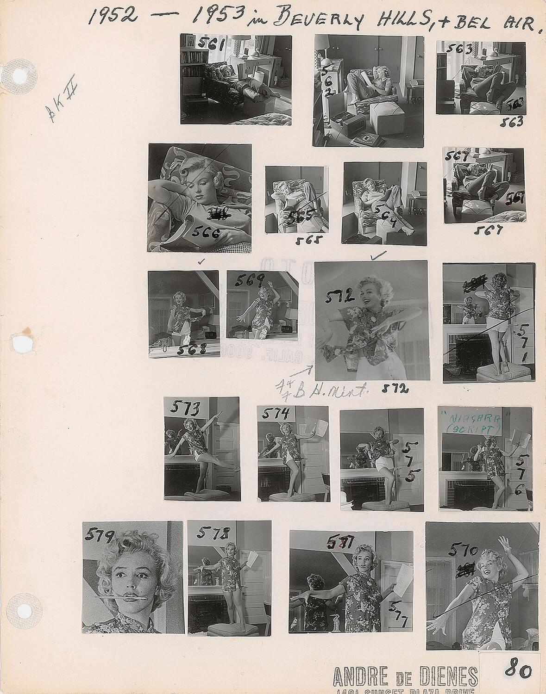 Contact Sheet - Marilyn Monroe