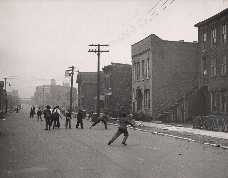 Street Scene in Chicago, 1944