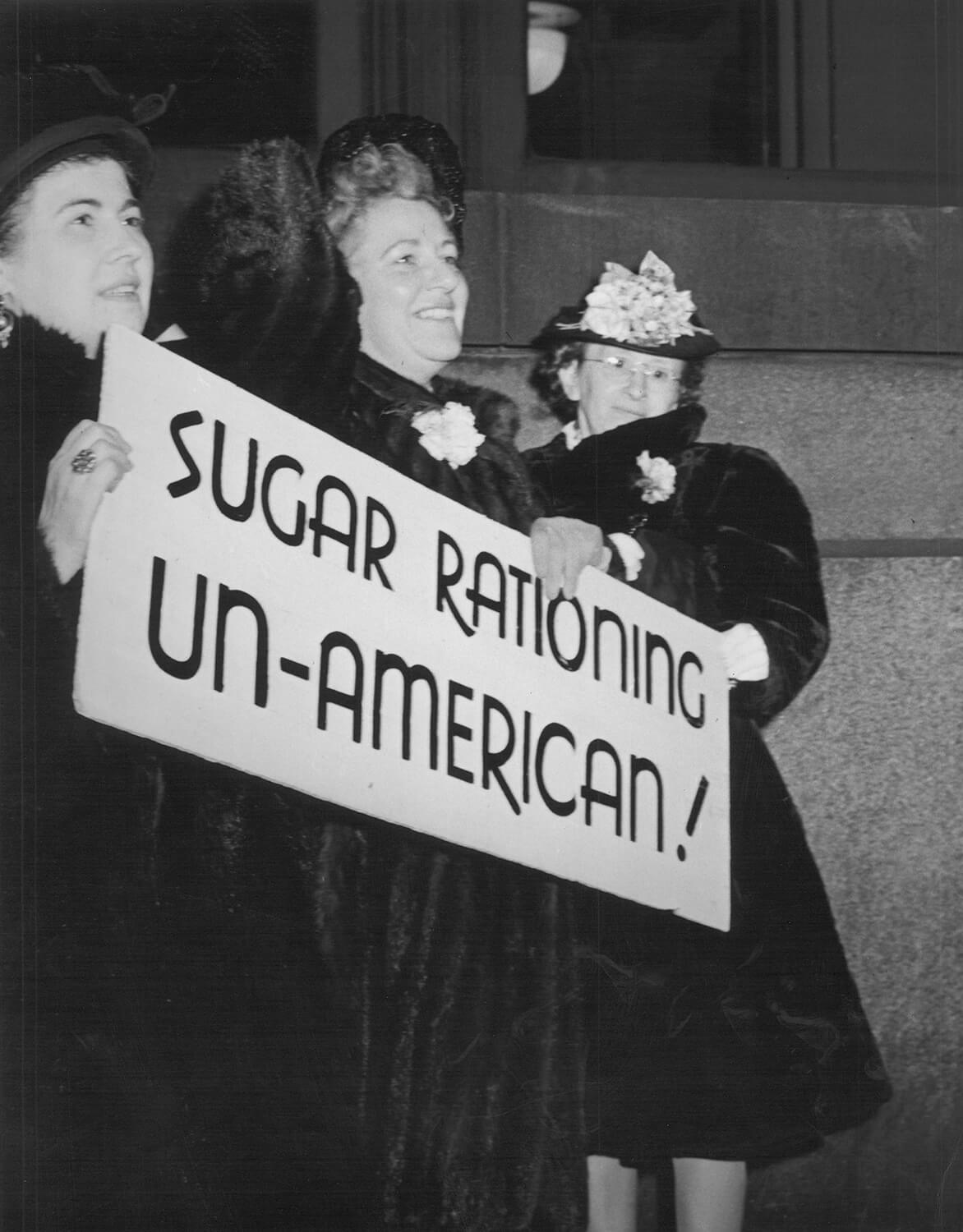 Sugar Rationing Protest, 1940s