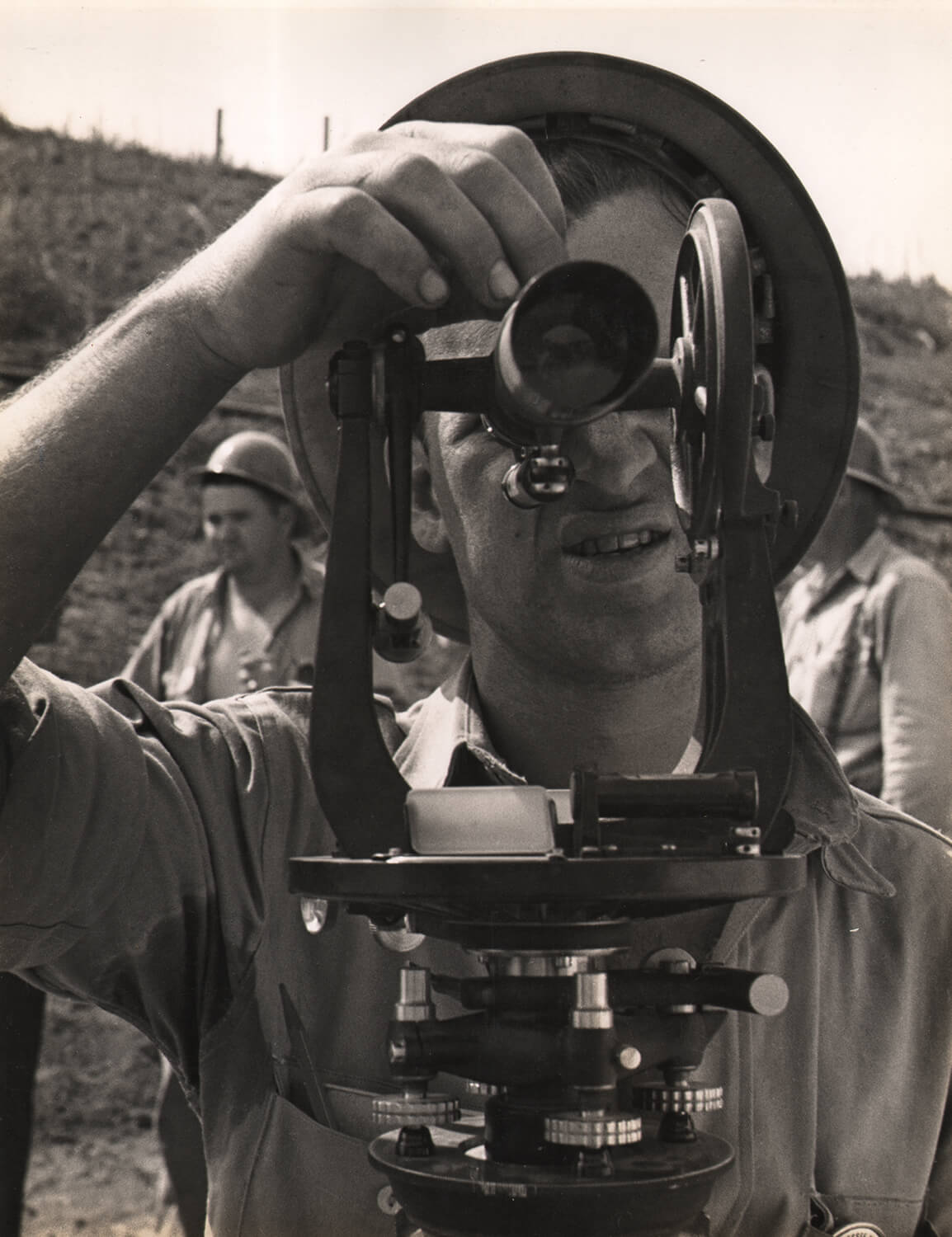 Surveyor for the Tennessee Valley Dam Project, 1930s