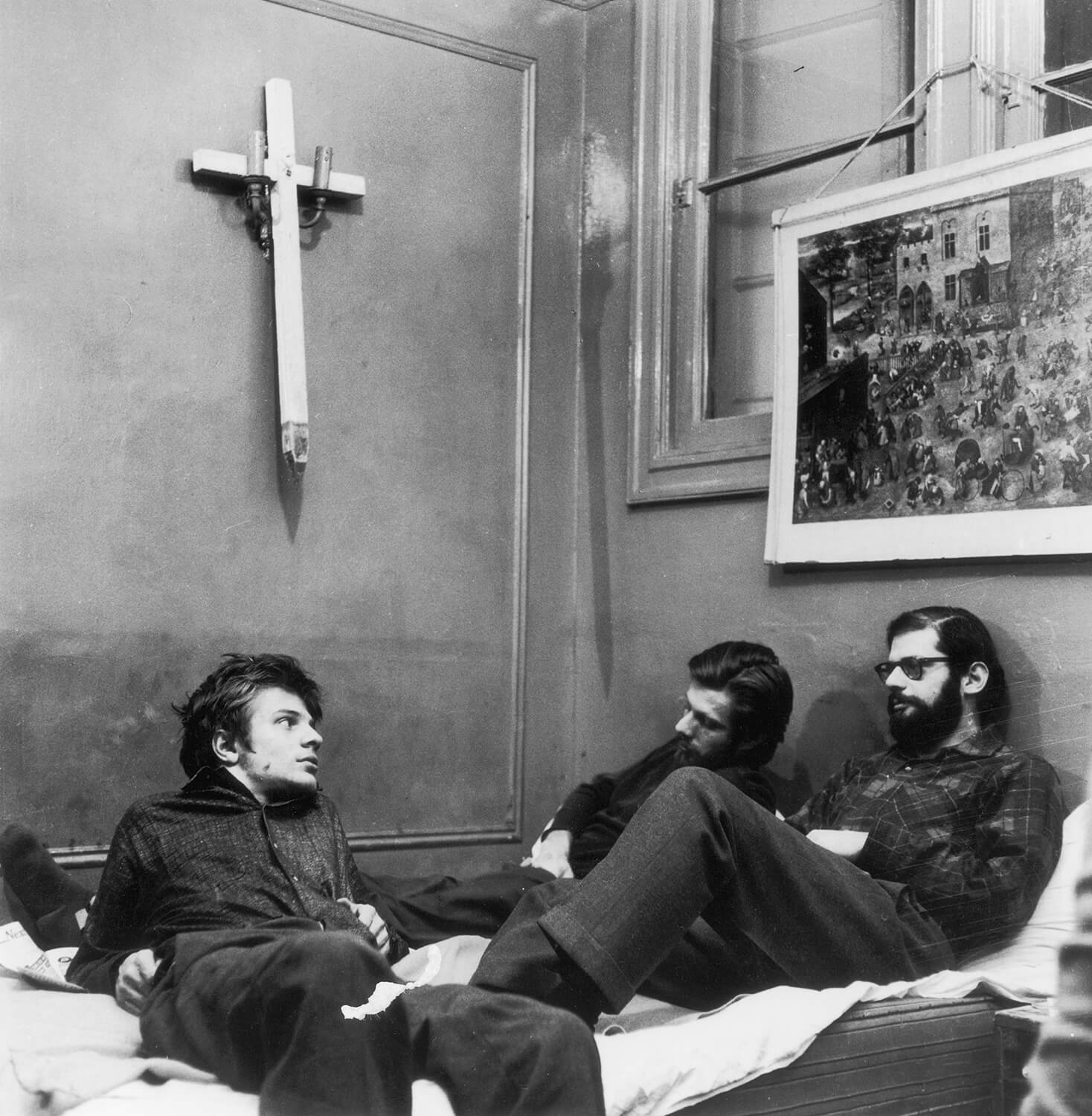 Allen Ginsberg, Peter Orlovsky, and Lafcadio Orlvosky, 1960