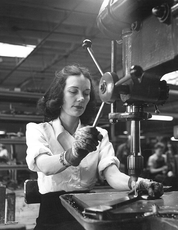 Woman Factory War
