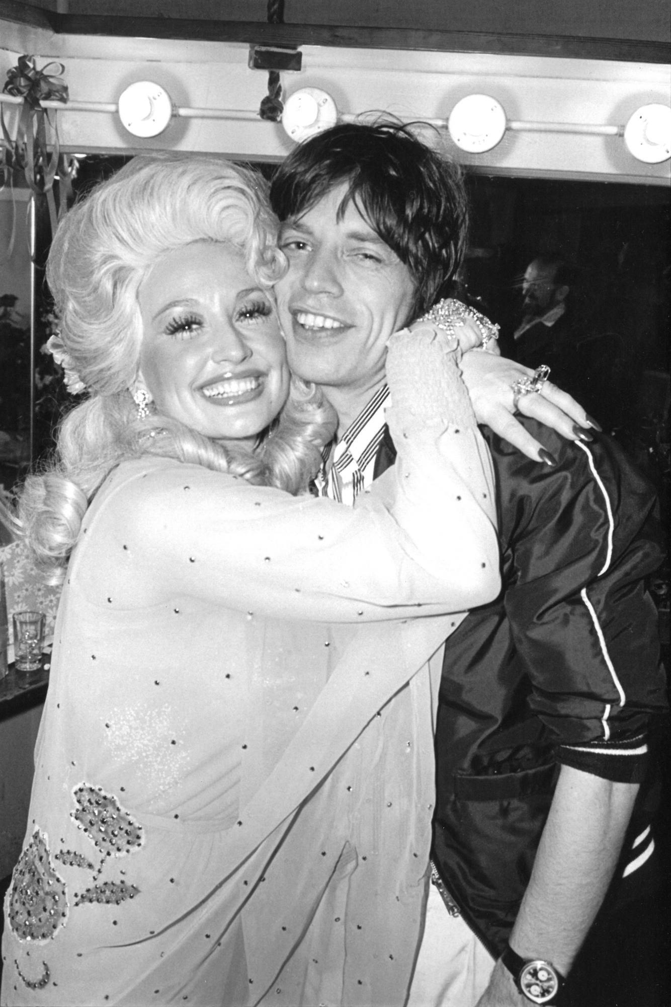 Dolly Parton and Mick Jagger