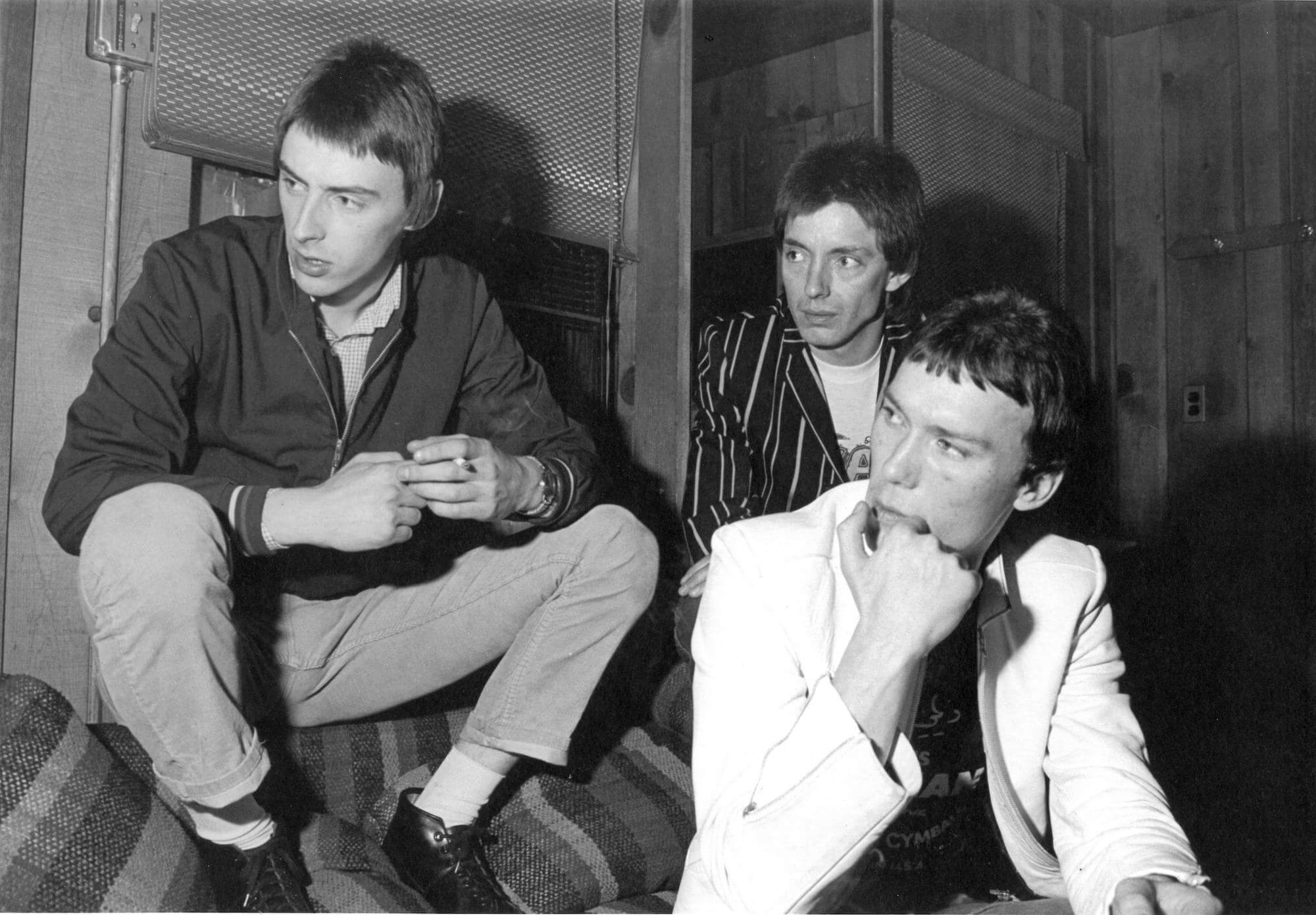The Jam backstage at The Palladium, 1979