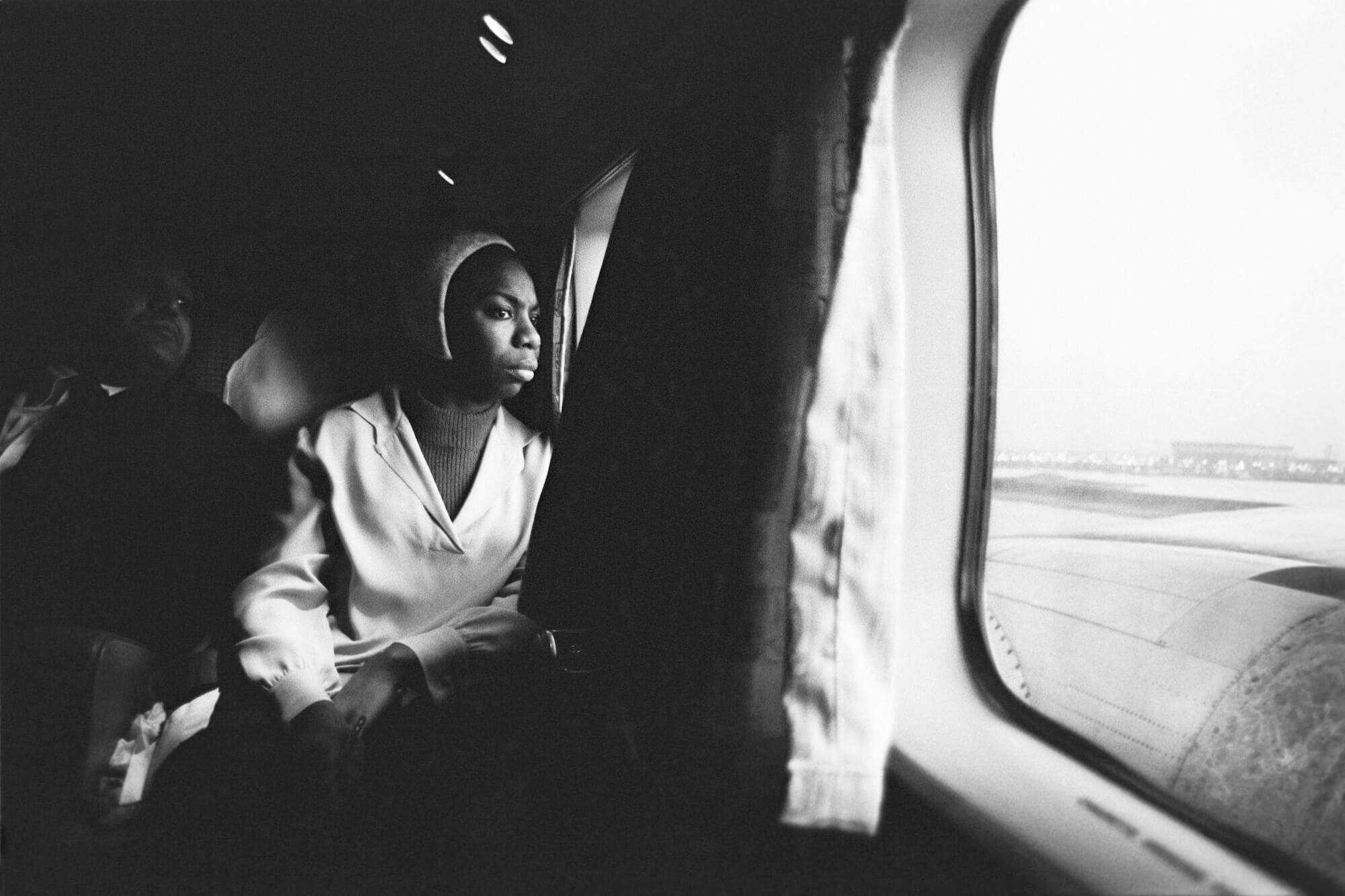 Nina Simone on a Short Flight to Buffalo, New York, 1964