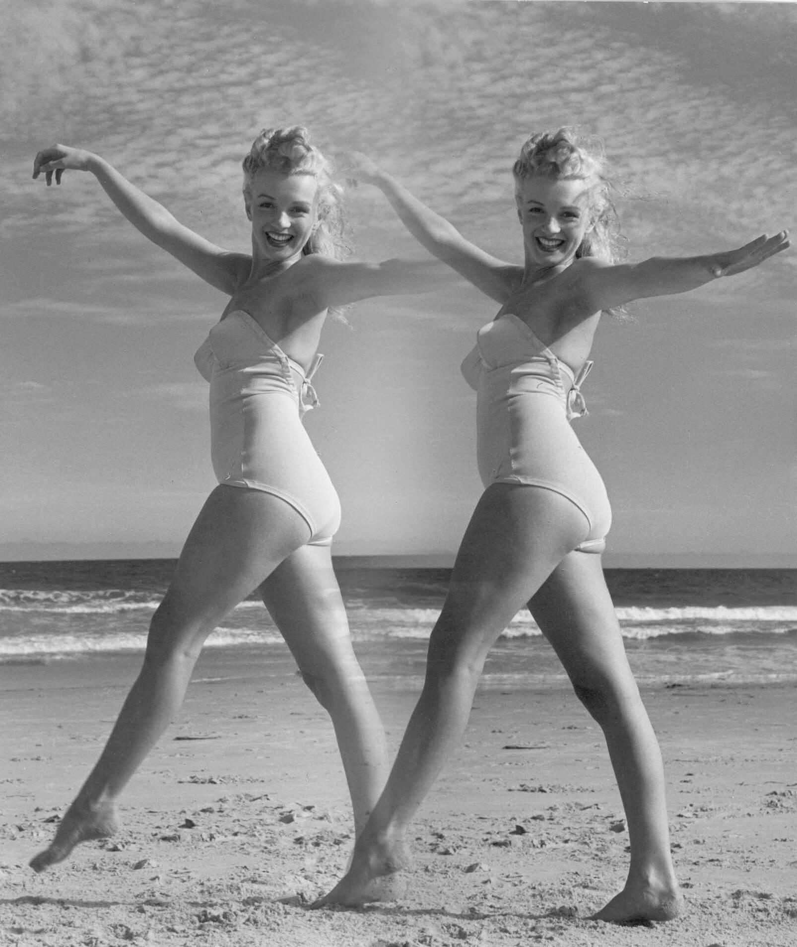 Marilyn Monroe on Tobay Beach (Double Marilyn Montage), Long Island, NY, 1949