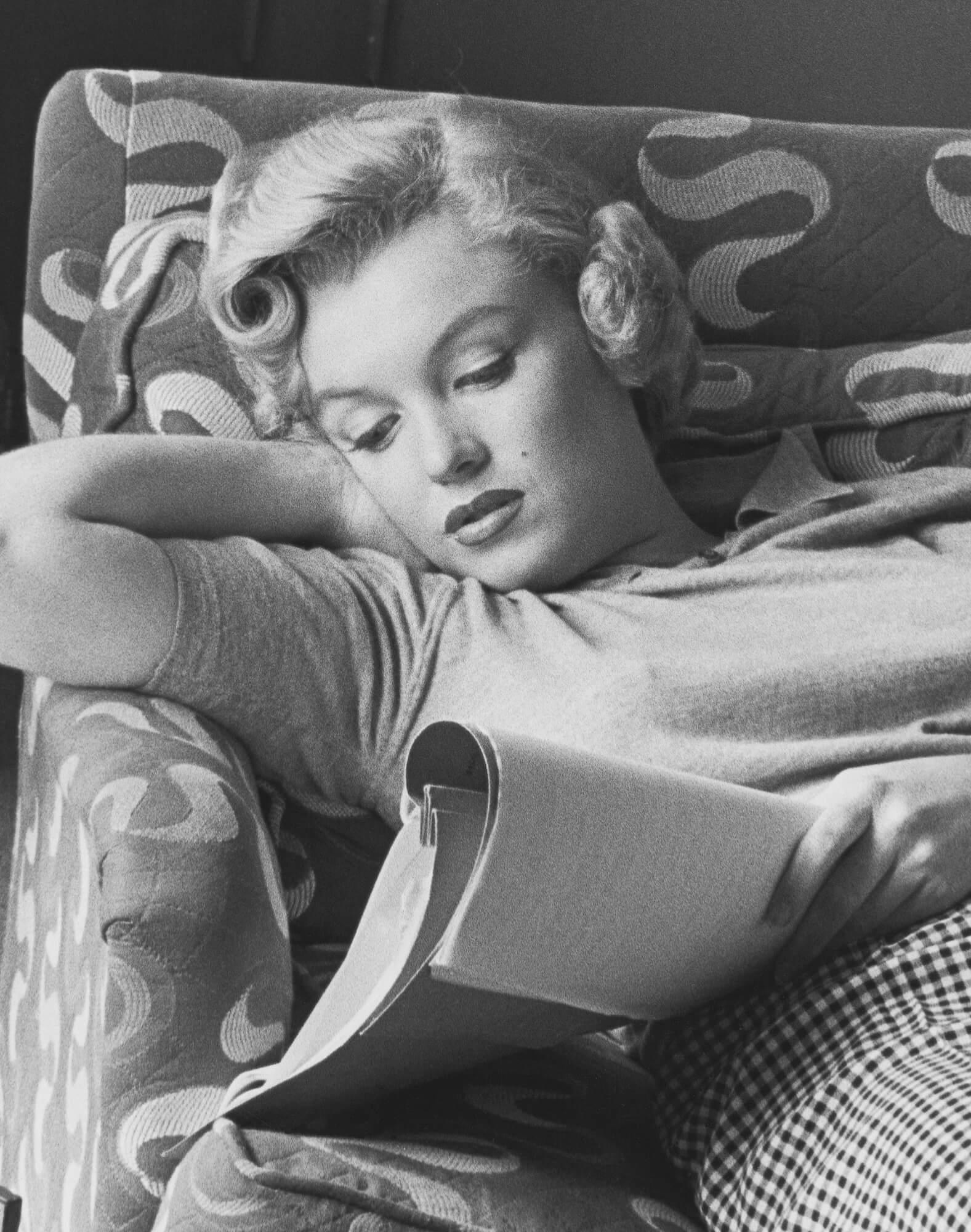 Marilyn Monroe Studying a Script, 1953