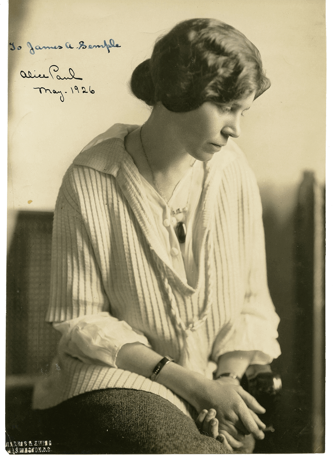 Alice Stokes Paul (1885-1977), Suffragist (Photo: Harris & Ewing Inc., Washington D.C.)
