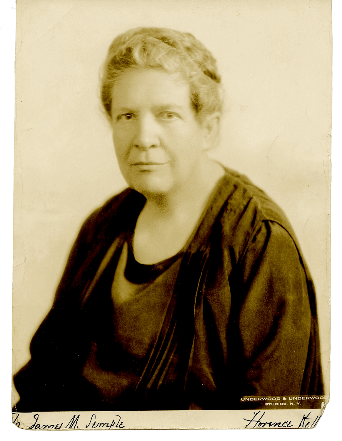Florence Kelley (1859-1932), Social Reformer (Photo: Underwood & Underwood)