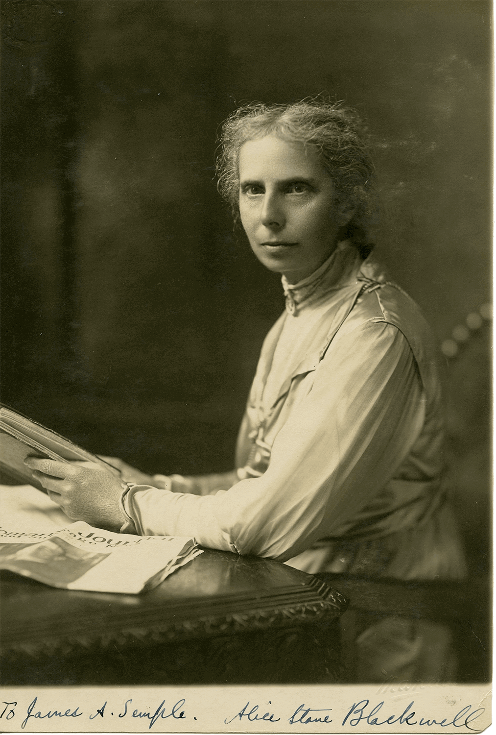 Alice Stone Blackwell (1857-1950), Suffragist, Activist, and Journalist (Photo: Marceau Studios, Manhattan)