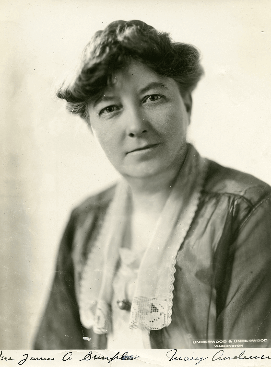 Mary Anderson (1872-1964), Labor Leader  (Photo: Underwood & Underwood)