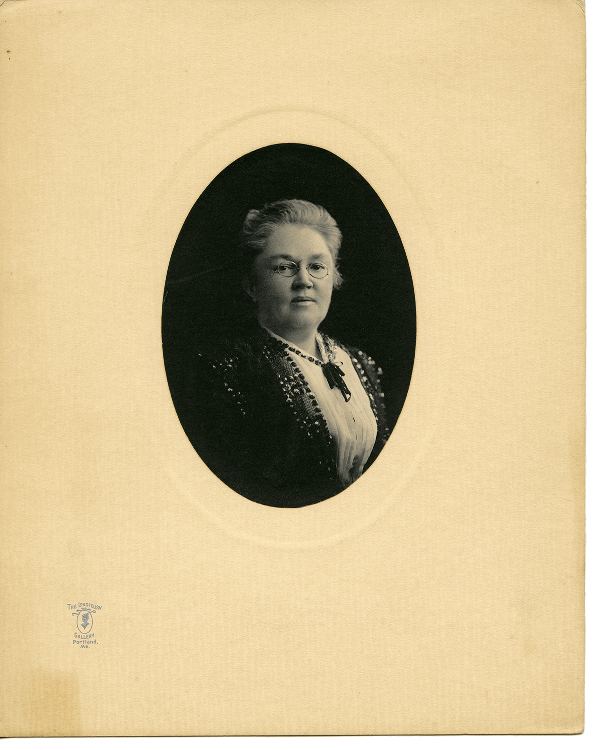 Katherine Lee Bates (1859-1929), Poet (Photo: The Longfellow Gallery, Portland, ME)
