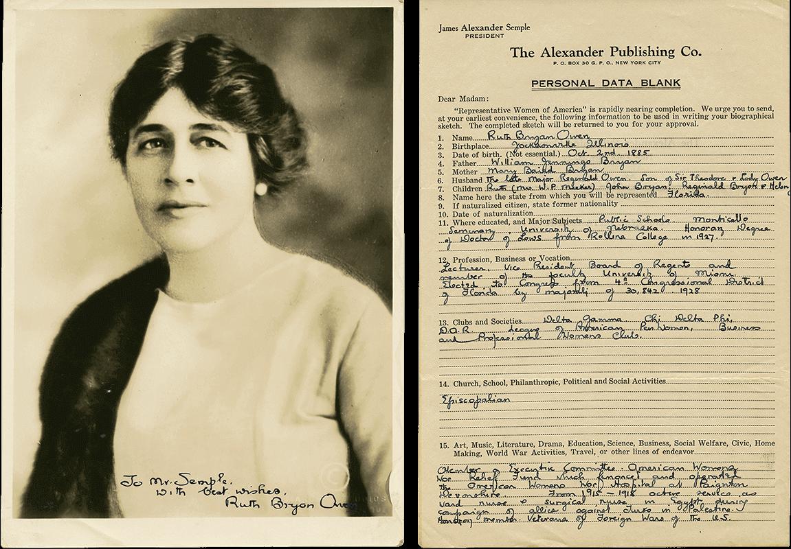 Ruth Bryan Owen Letter