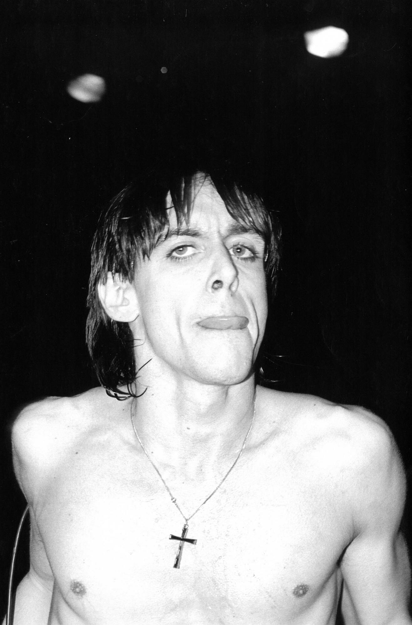 Iggy Pop Performing at the Palladium, 1977