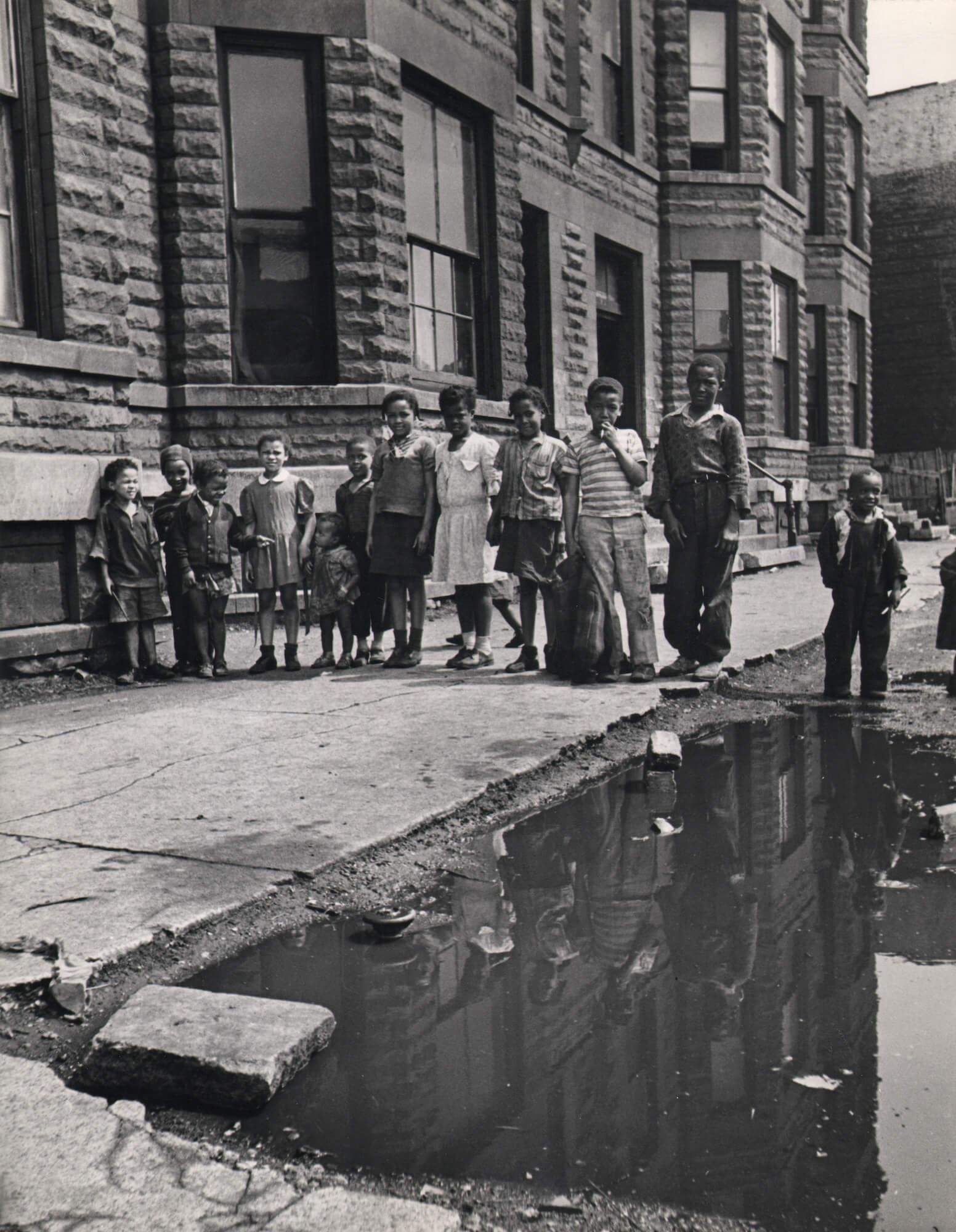 Children on a Chicago Sidewalk, 1944