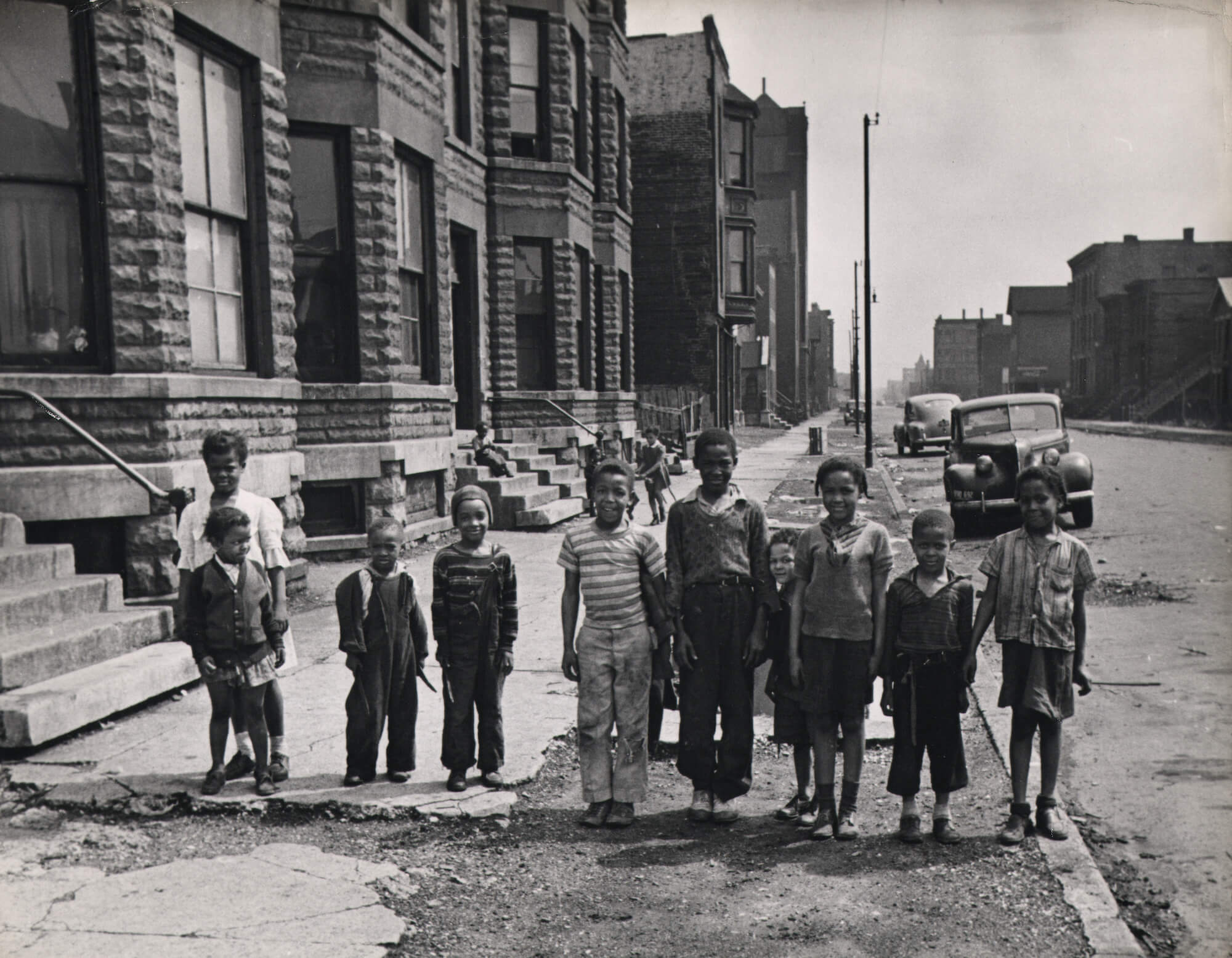 Children on a Sidewalk in Chicago, 1944