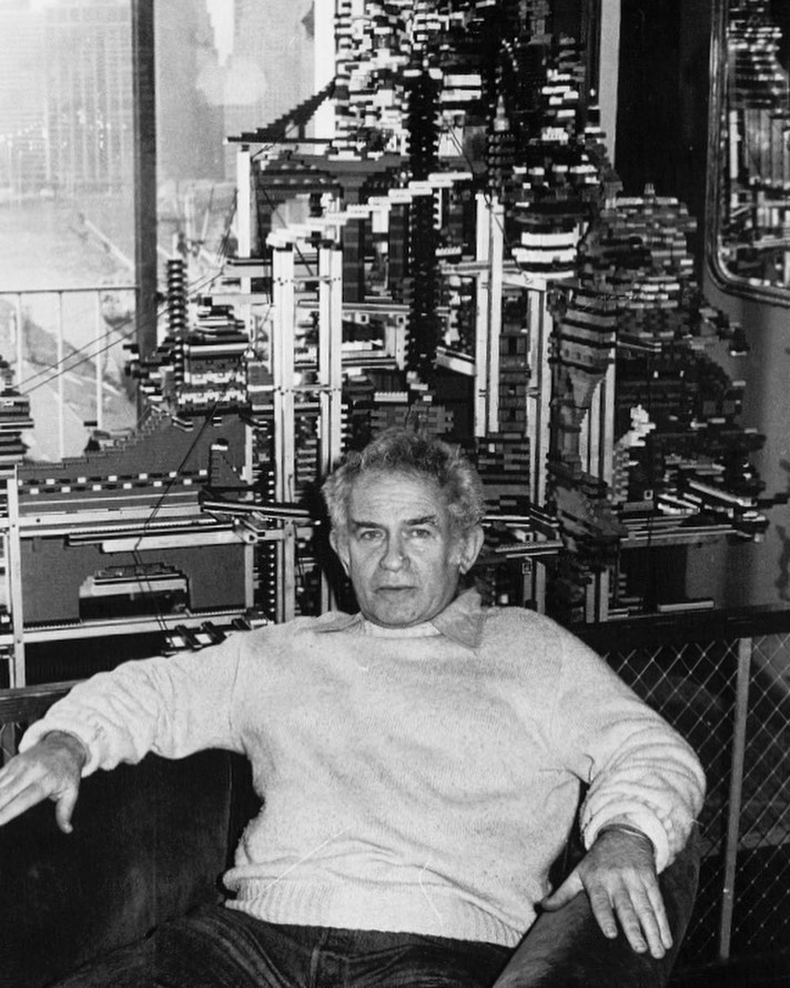 #Onthisday in 1978, author Norman Mailer poses in front of a mini city made from Lego blocks. It was built by his brother-in-law Charlie Brown and friend Eldred Mowery. Construction was completed in 1965.   📷©️Fred W. McDarrah/MUUS Collection   #normanmailer #author #legoblocks #legobricks #city #nyc #newyorkcity #ny #villagevoice #americanauthors #photography #portrait #archive #fromthearchives #filmphotography #35mm #35mmfilm #vintageprint #silvergelatinprint #manhattan #photographer #photooftheday #picoftheday #pictureoftheday #art #documentaryphotography #portraitphotography #photojournalism #photograph