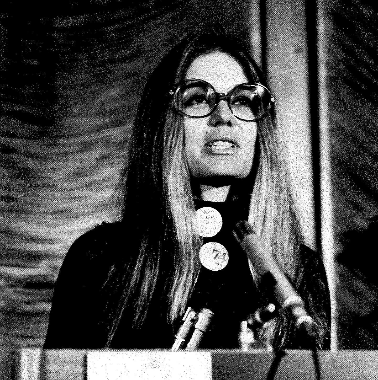 "In going from freelance reporter to feminist icon, Gloria Steinem has stayed busy. In 1956, Steinem earned a BA from Smith College. After a post-graduation law fellowship, she turned to freelance journalism. In 1963, she wrote an article for Show magazine that put her on the map. To write the article, she went undercover as a Playboy Bunny in order to expose exploitative working conditions in Playboy clubs. It was initially difficult for Steinem to find work after ""A Bunny's Tale"" was published, but in 1968 she went on to co-found New York magazine. There, she was able to report on her interests in politics and social issues. In 1969, Steinem attended a ""speak-out"" on abortion legalization to report for the magazine. She described it as the beginning of her life as a ""active feminist"", and allowed her to feel that she shouldn't be ashamed for an illegal abortion she had at the age of 22. In 1971 co-founded both the National Women's Political Caucus and the Women's Action Alliance. In 1972 she co-founded feminist magazine ""Ms."", which would cover the women's liberation movement and women's rights issues specifically. Over her life, Steinem has been heavily involved in political campaigns as well as activism in favor of world peace and reproductive freedom. She is especially known as a speaker and writer in the name of women's rights and feminism. She has received awards for journalism, humanitarianism, gay rights, and women's empowerment, among others. Steinem has also been portrayed on stage, TV, and in film. At age 86, she is still a world-renowned lecturer and organizer.  Steinem is pictured here, speaking at the National Women's Political Caucus at the Four Seasons in 1974. © Fred W. McDarrah/MUUS Collection  #womenshistory #womenshistorymonth #photography #photos #filmphotography #film #filmisnotdead #photoftheday #blackandwhitephotography #muuscollection #gloriasteinem #feminism #liberalfeminism #radicalfeminism #intersectionalfemninism #feminist #womenslib #womensliberations #womensrights #smithcollege #msmagazine #newyorkmagazine #showmagazine #abunnystale #equalrightsamendment #era #prochoice #activism #journalism #fredmcdarrah"