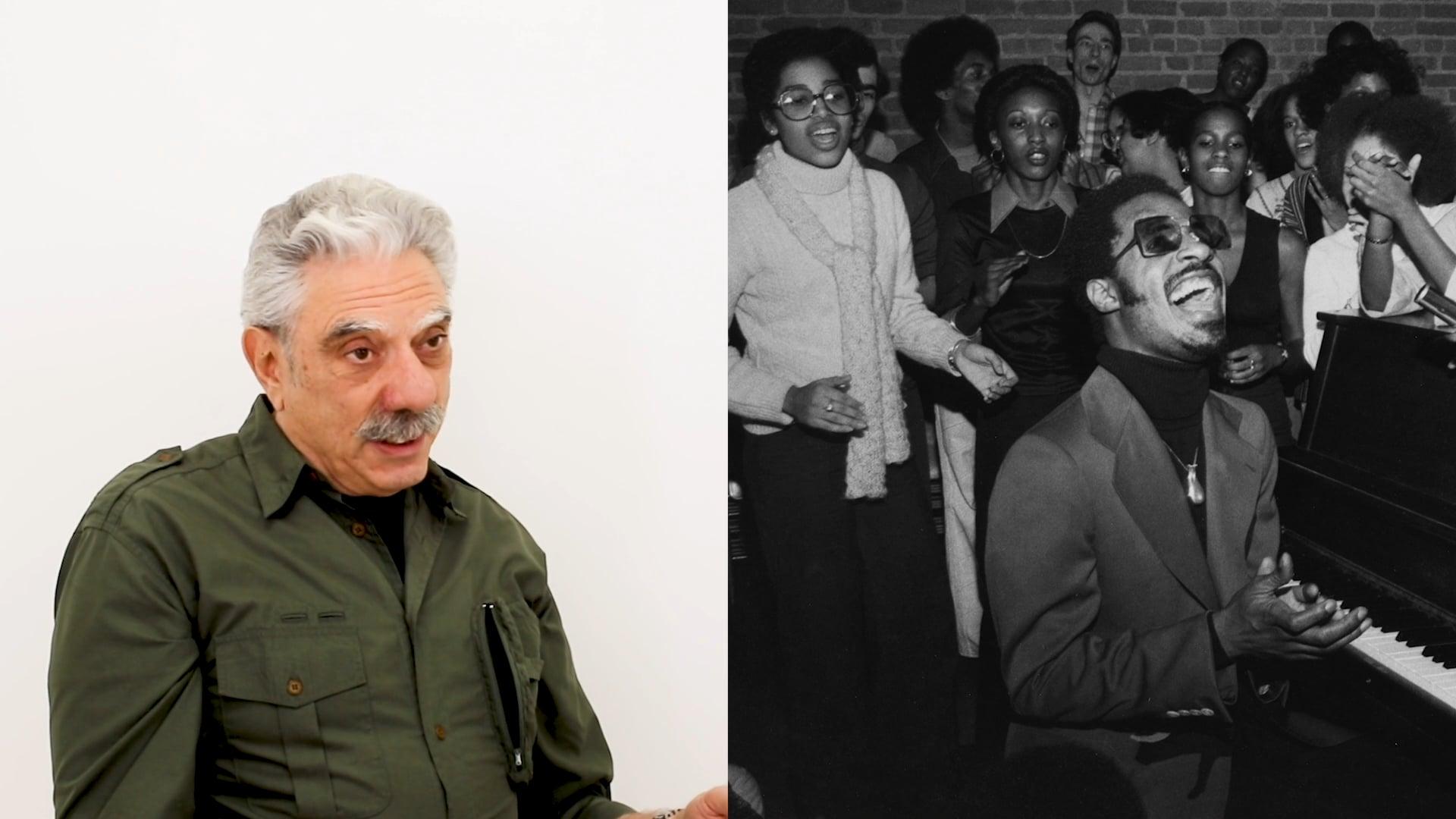 Photographer Allan Tannenbaum discusses Stevie Wonder