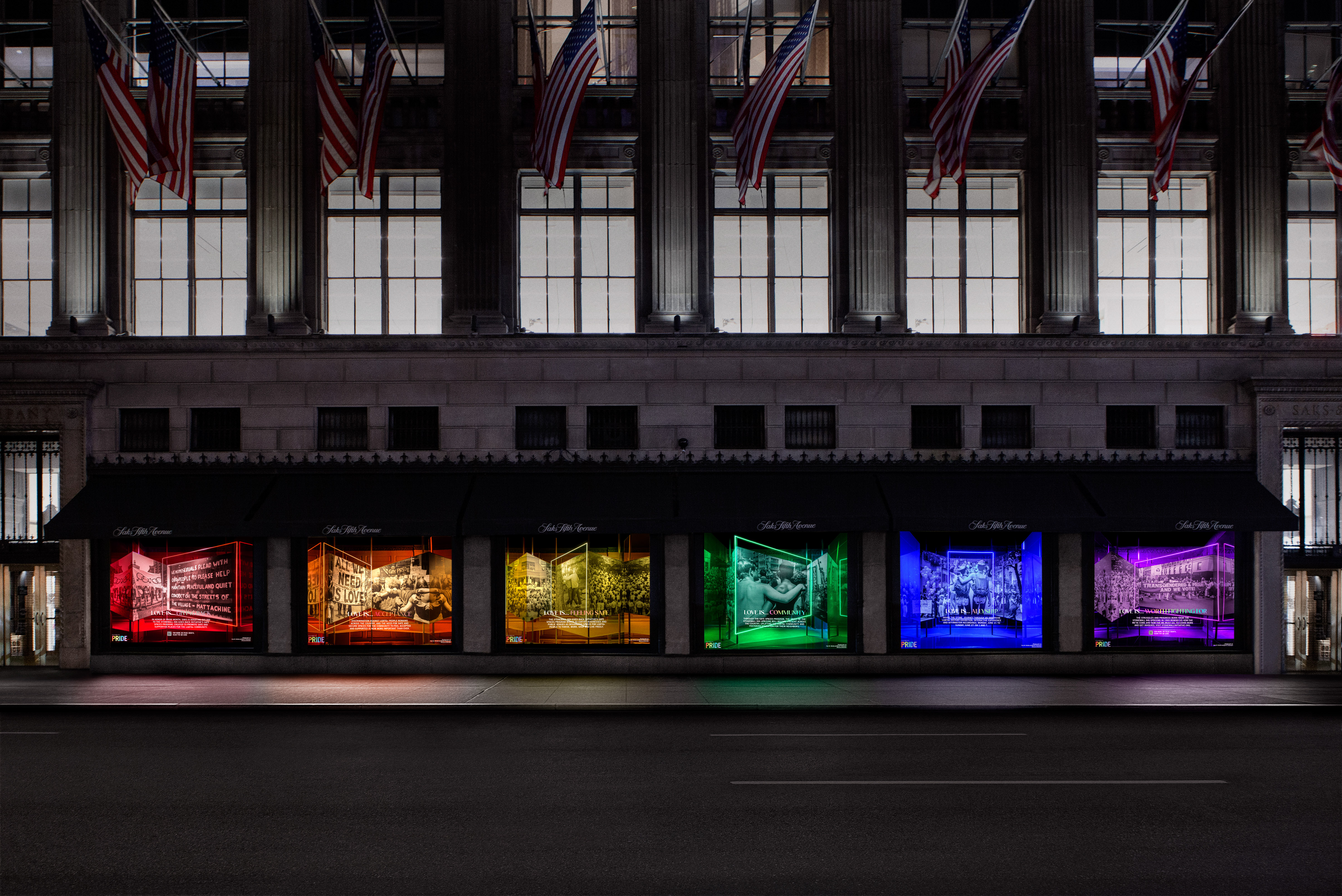 Saks Pride Windows