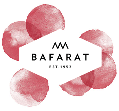Bafarat Logo with red Dots