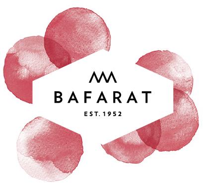 شعار بافرط مع النقاط الحمراء