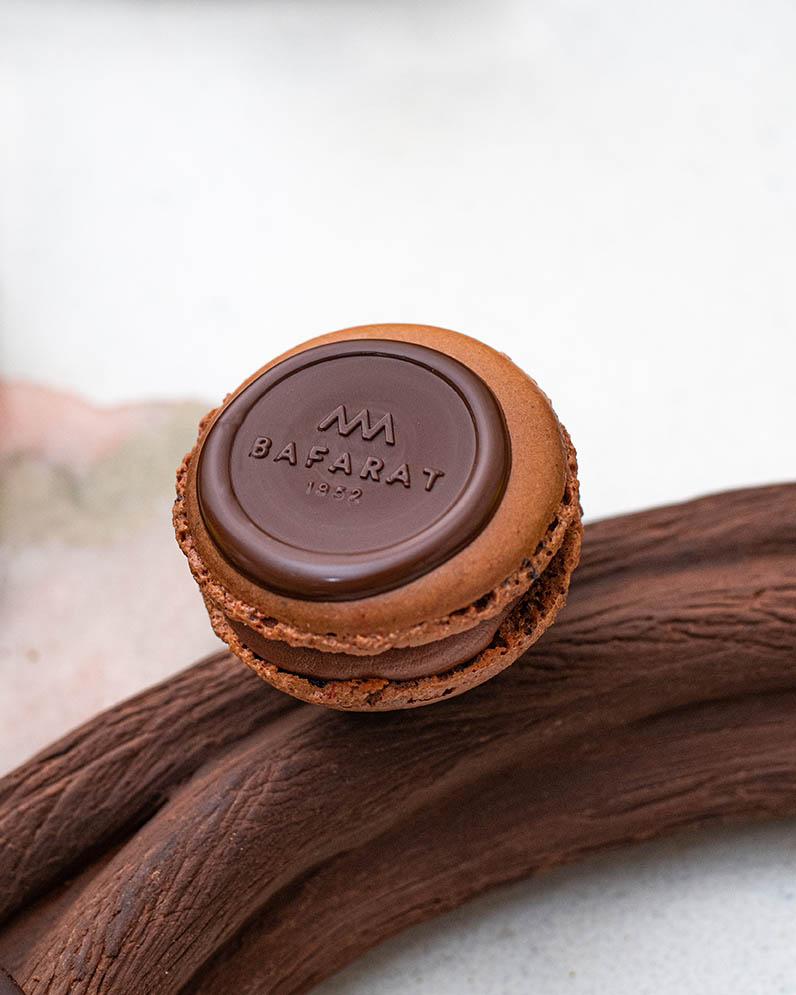 Chocolate Macaroon  on Table