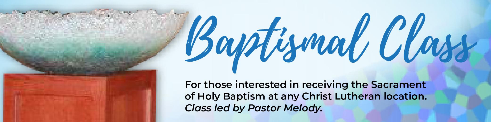 Baptismal Class