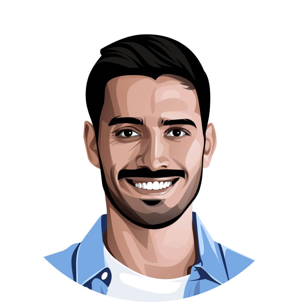 male professional headshot illustrated