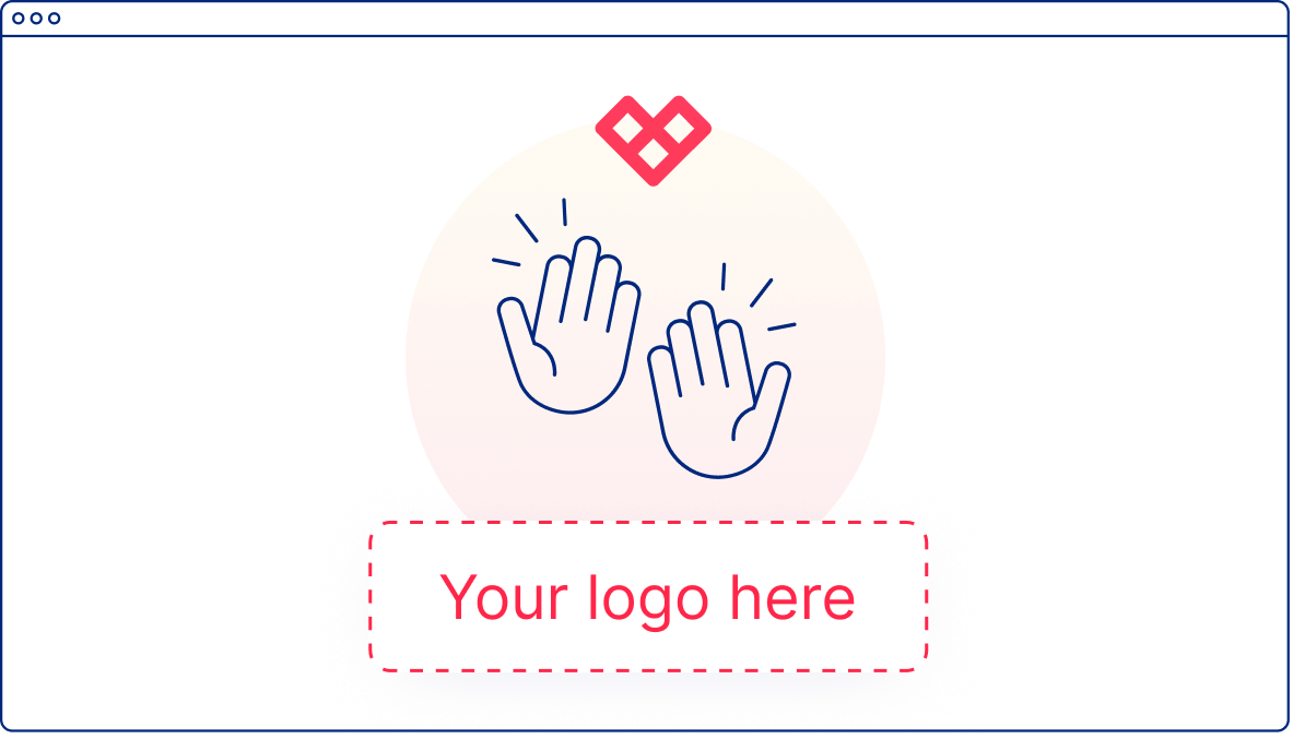 Sample UI Illustration of Your Company Logo on the Given Community Website