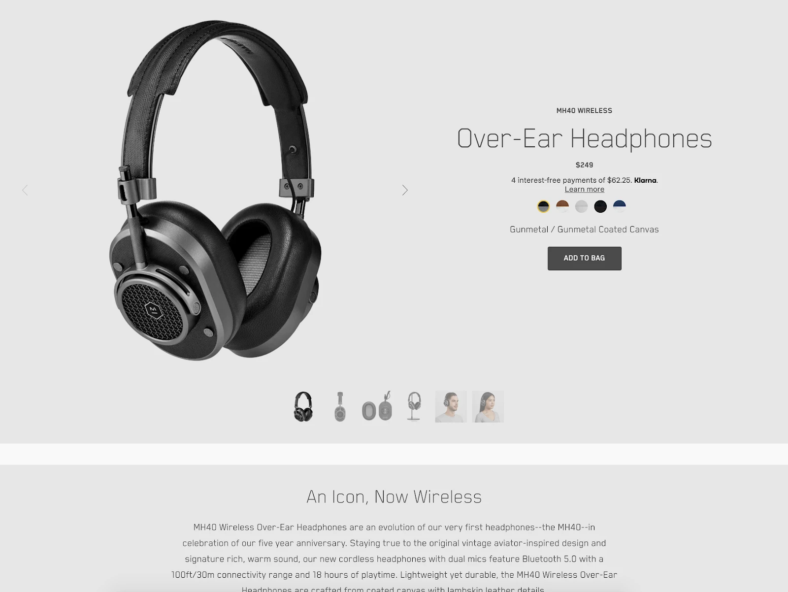 masters and dynamic product page screenshot