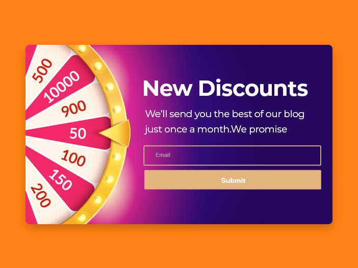 Spin to Win Discounts