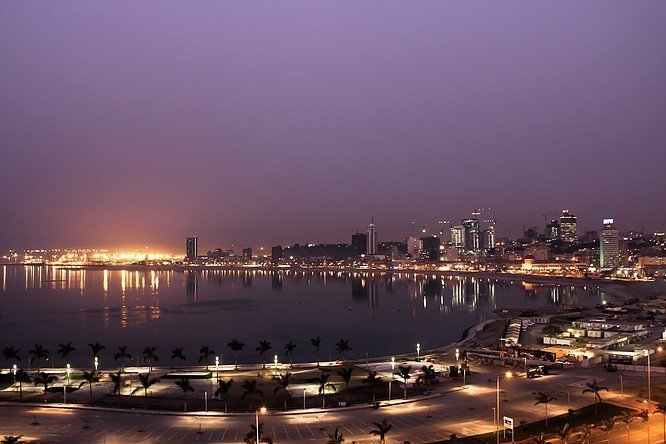 Vue de la baie de Luanda