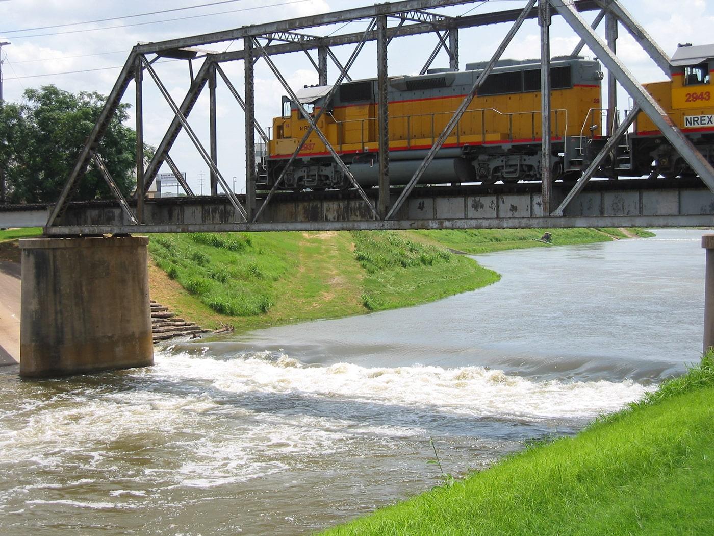 Dam on Clear Fork Trinity River near Trinity Park